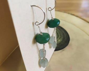 Green Chalcendony and Aquamarine