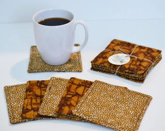 Quilted Coasters/ Cup coaster/ Mug rugs/ quilted mug rugs/ coaster/ Tribal Coasters/Coaster set/ Gift Ideas/ wedding gift/Cotton anniversary