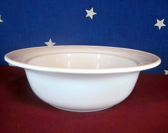 Corning Ware ~Casual Elegance~ L-21 White Floral Flora Round Roaster Casserole Baking Serving Bowl Dish 10 x 3 Inches