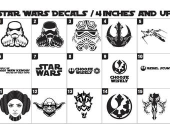 Star Wars Decals 4inches and up