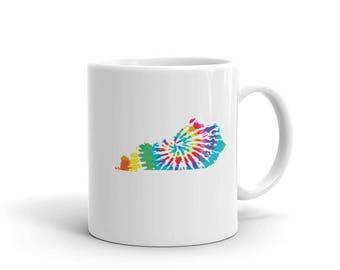 Kentucky Tie Dye Coffee Mug