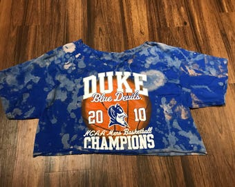FADED Duke Basketball Crop Tee
