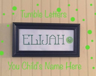 cross stitched names