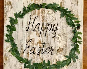 Easter Decorations Wood, Happy Easter, Barnwood Sign, Easter Decorations, Easter Decor