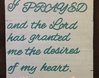 1 Samuel 1:27 Sign