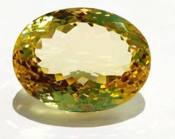 Loose Gemstones Top Quality of Brazilian Natural Citrine Quartz Oval Shape 32 Carat