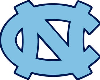 University North Carolina Tar Heels SVG DXF Logo Scalable Silhouette Studio Transfer Iron on Cut File Cameo Cricut Layered Vector
