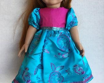 "Fancy dress fits 18"" dolls such as American girl"