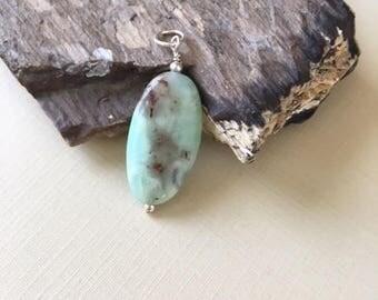 Black golden Amazonite Wire Wrapped Pendant/Dangle, sterling silver,amazonite dangle,minimalist jewelry, gift for her, quartz dangle,