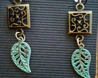 Boho gone vintage earrings