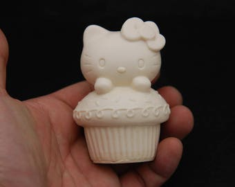 Kitty#2, Silicone Mold Mould Sugarcraft Candle Soap Chocolate Polymer Clay Melting Wax Resin Tools Ornament Handmade