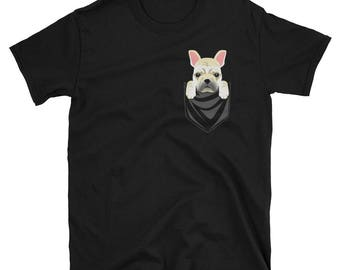 Funny Cream French Bulldog Pocket T-Shirt Cute Dog Gift
