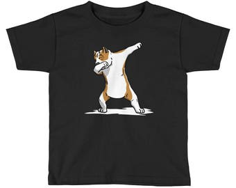 Funny Dabbing Amstaff Kids Short Sleeve T-Shirt