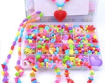 Jewelry Making Kit Diy beads Set for Girls / 6 designs