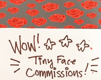 Tiny Watercolor Face Commissions!
