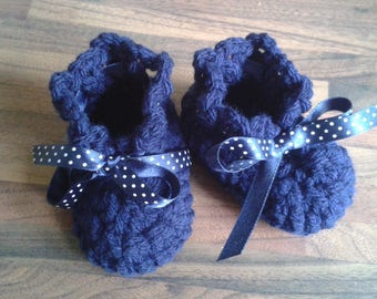 Soft baby girl booties ideal for special occasions