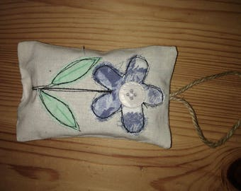 Embroider Flower Lavender Bag- Rectangle