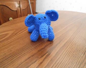 New HANDMADE Crocheted Blue Elephant