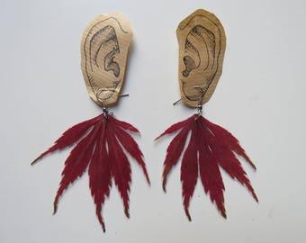 Laminated Leaf Earrings