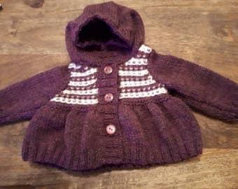 Newborn hooded cardigan