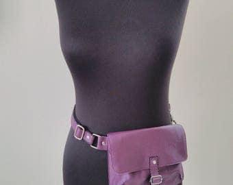 Fanny Pack, Leather Fanny Pack, Waist Bag, Belt Bag, Hip Bag, Bordo leather belt bag, Custom Fanny Pack, Leather Waist Bag, Modern