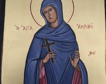 Orthodox icon Saint Akrivi
