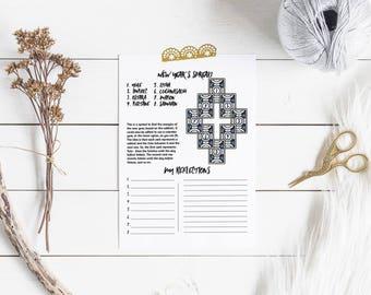 New Year's Tarot Spread Journal