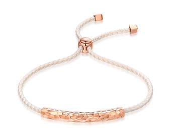 Hammered ESTELAR Interchangeable Sterling Silver Bar Bracelet