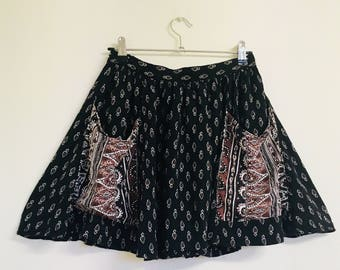 Indie/Boho Pattern High-waisted Skirt