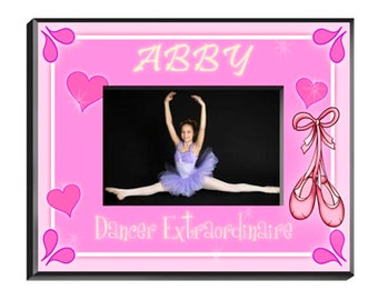 Personalized Girl Picture Frames - Girl Picture Frames - Girl Photo Frames - Dancer Frame - Ice Skater Frame - Princess Frame - Kitten Frame