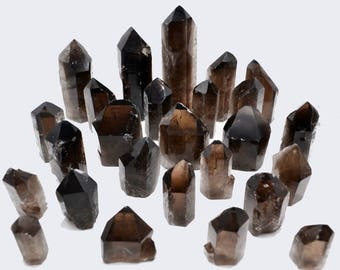Cobble Creek: Natural Smoky Quartz Crystal Point Cut Base - 2-1/2-Inch Tall, 2-Inch Wide