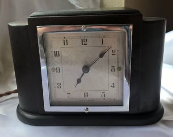 Vintage Ferranti Electric Clock in Solid Wooden Case – Fully Working