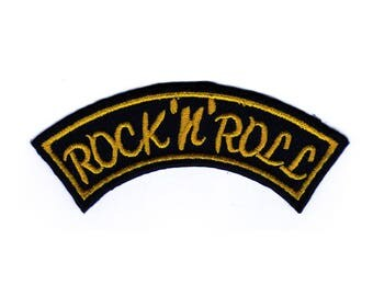 AC12 Rock n Roll rockabilly biker cowl patch ironing screen application patches patches size 11.5 x 4.5 cm