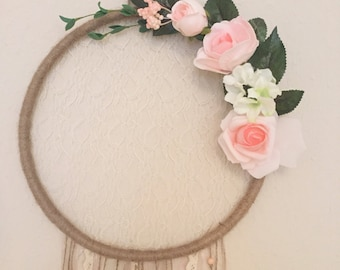 Dream Catcher Rose Pink Lace