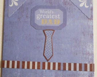 """World's Greatest Dad Greeting Card, Note Cards, 3.25""""x4.5"""", Handmade in the USA, #40"""