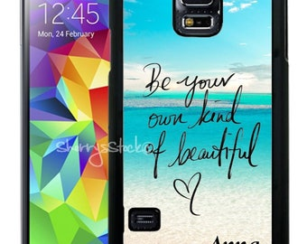 Personalized Rubber Case For Samsung S5, S6, S6 edge, S6 Edge Plus, S7, S7 Edge,  8, 8 plus - Be Beautiful Beach