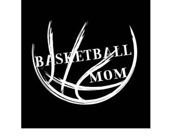 Basketball Mom Vinyl Decal, Choose Black, White or Orange Color, Car Decal, Laptop, Yeti, Window,