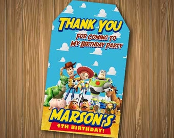 Toy Story Thank You Tags, Toy Story Thank You Card, Toy Story Thank You, Toy Story Birthday, Toy Story Tags Printables, Woody Thank You Tags