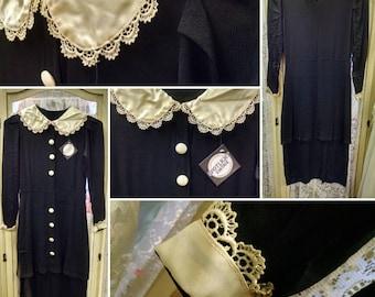 1930s Dress with Peter Pan Collar