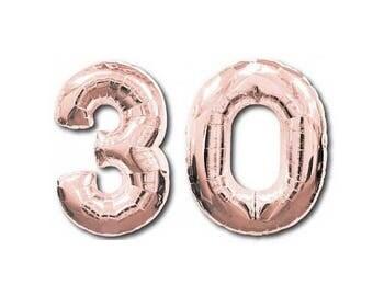 30 Rose Gold Foil Balloon