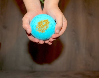 Organic/ Kids Bath Bombs Single/ With A Prize Inside/ With Therapeutic Grade Essential Oils/ All Natural/ Perfect Gift