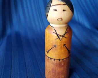 LDS Book of Mormon Samuel the Lamanite peg doll