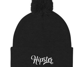 Hipster Pom Pom Knit Cap