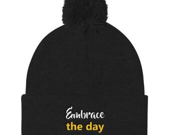 Embrace the day Pom Pom Knit Cap