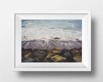 Nature Photography - Pacific Ocean Tides Photo Print