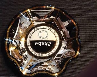 Vintage 1967 expo souvenir plate