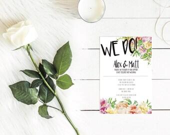 PEONIES wedding invite