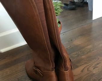 Tall Brown Leather Boots Size 7
