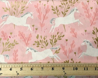 Unicorn Forest, Michael Miller, Childrens Fabric, Pink