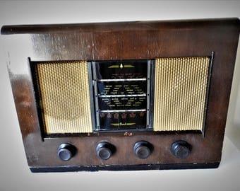 1950's Bush AC11 Wood Case Valve Radio Working
